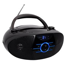 1 - Portable Stereo CD Player with AM/FM Stereo Radio & Blue