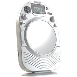 1 - AM/FM Stereo Shower Radio with CD, Vertical-loading CD p