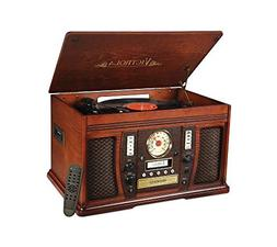 Victrola 7-In-1 Aviator Wooden Nostalgic Record Player with