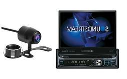 """Soundstream 1 Din VR-720B-C DVD/CD Player Flip Up 7"""" LCD Blu"""