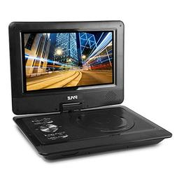 """Upgraded Pyle 10"""" Portable DVD Player, CD Player, Swivel Ang"""