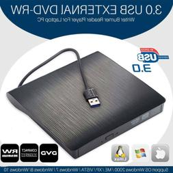 2020 Ultra Slim Portable USB 3.0 External DVD RW CD Drive Bu