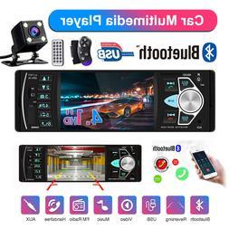 4.1 Car Radio Stereo 1DIN FM Bluetooth USB AUX Audio MP5 Pla