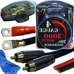 20 Foot 4 Gauge Amp Kit Featuring 20% Oversized Cables - Com