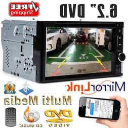 "6.2"" 2 Din Car DVD CD Player Double Stereo Radio Bluetooth M"