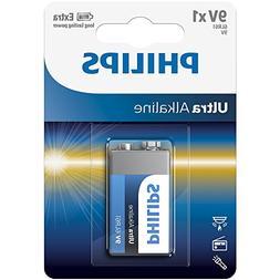 Philips 6LR61E1B/17 ExtremeLife Ultra Alkaline 9-volt Batter
