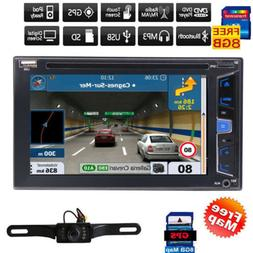 """6.2"""" Touch Screen Double 2 DIN Car Stereo DVD CD Player Blue"""