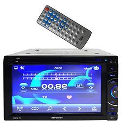 "Audiotek - AT-63BT- 6.5"" Double-Din AM/FM/MP3/MP4 Playable w"