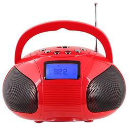 August SE20 Mini Bluetooth MP3 Stereo System Portable Radio