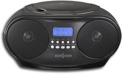 Insignia - CD Boombox with AM/FM Tuner - Black