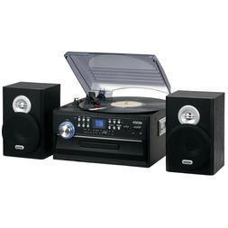 Jensen AM-FM Radio Turntable CD Player 3-Speed Stereo Vinyl