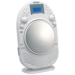 Jensen JCR525 AM/FM Stereo Shower Radio with CD Slot