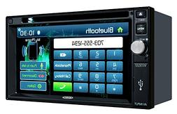 Jensen VX3022 2 DIN Multimedia Receiver, 6.2-Inch Touch Scre