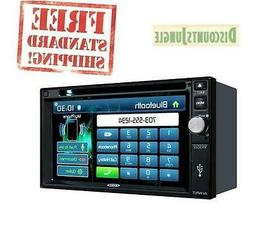 Jensen VX3022 6.2 inch LCD Multimedia Touch Screen Double Di