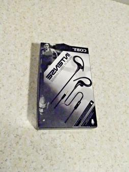 NEW IN BOX COBY INTENSE SECURE FIT STEREO EARBUDS
