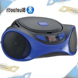 NEW Sylvania Blue Portable CD Player AM/FM Radio Boombox Ste