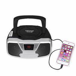 Riptunes Programmable CD Boombox- Portable Boombox, AMFM Rad