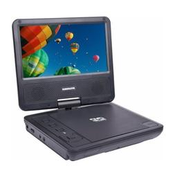 "Sylvania - 7"" Portable DVD Player with Swivel Screen - Black"