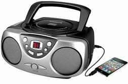 Sylvania Portable Stereo Boombox CD Player AM/FM Radio AUX-I
