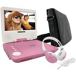 Sylvania SDVD7060-Combo-Pink 7-Inch Portable DVD Player Bund