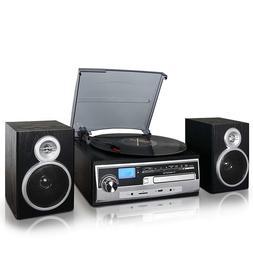 Trexonic 3-Speed Turntable w/ CD Player, FM , Bluetooth, USB