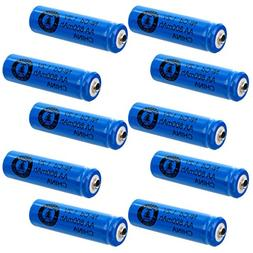 10pc AA 1.2V 800mAh NiCd Rechargeable Button Top Assembly Ce