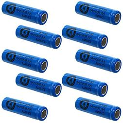 10pc AA 1.2V 800mAh NiCd Rechargeable Flat Top Assembly Cell