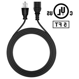 FITE ON 5ft AC Power Cord Outlet Socket Cable Plug Lead for