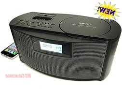 iTrak AM/FM/CD/MP3 Portable CD Boombox Speaker with iPhone &