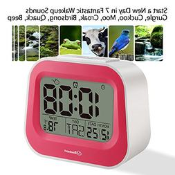 Soobest Digital Kids Alarm Clock with Adjustable Snooze, 7 W