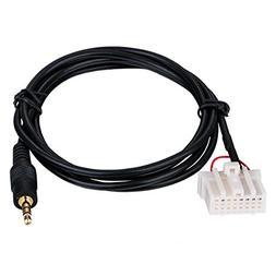VONOTO 1M AUX 3.5mm Mazda Car Player Radio CD Audio Cable, C
