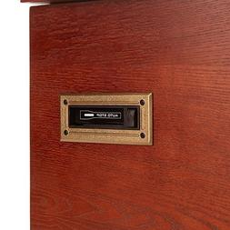 Aviator-Style 6-in-1 Bluetooth-Enabled Wooden Cabinet Turnta