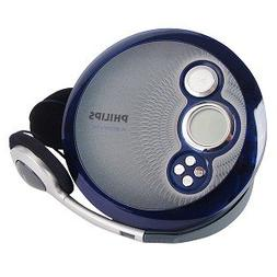 Philips AX2412 Portable CD Player w/45sec Skip Protection