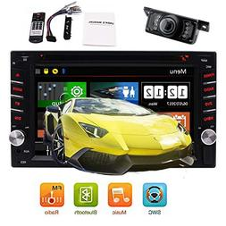 Bacup Camera + 6.2''Car Stereo Radio Double 2IN Capacitive M