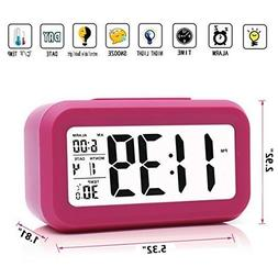 iProtect Battery Operated Small Digital Alarm Clock - Perfec