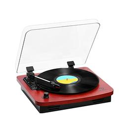 JORLAI Belt-Drive 3-Speed Turntable Vintage Style Record Pla