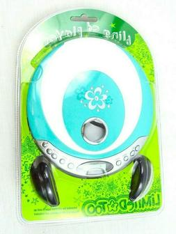Blue Bling CD Player Limited Too Portable CD Player W/ Headp