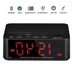 Bluetooth Alarm Clock Radio - Portable Desktop Alarm Clock B