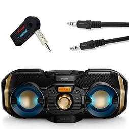 Philips Bluetooth Boombox Bundle  Piece Set Includes Light u