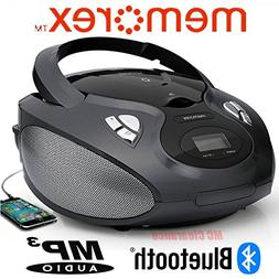 Bluetooth CD/MP3 Boombox AM/FM Tuner with Digital Display Me