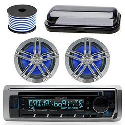 Kenwood Bluetooth CD Radio Receiver In-Dash Marine Boat Audi
