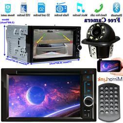 "Bluetooth FM AM Player Stereo Radio Car 6.2"" HD CD DVD Touch"