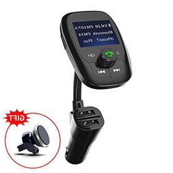 Bluetooth FM Transmitter, Wireless In-Car Radio Adapter Musi
