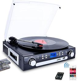 Digitnow Bluetooth Viny Record Player Turntable, Cassette,Ra