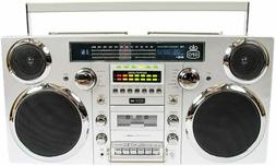 GPO Brooklyn 1980S-Style Portable Boombox - CD Player, Casse