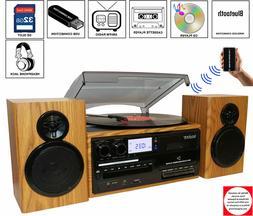 Boytone BT-28SPM 3-Speed Bluetooth Turntable, Record Player,
