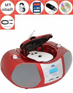 Boytone BT-6R Boombox CD Player USB/SD/MMC Slot FM Radio Aux