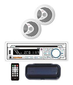 BT Marine Stereo Radio Receiver Speaker Kit, Hands-Free Talk