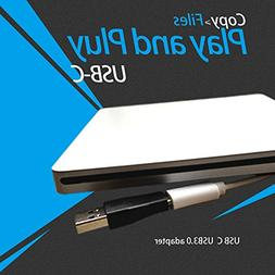 VesTcp Type-C Superdrive External DVD/CD Rewriter Drive USB