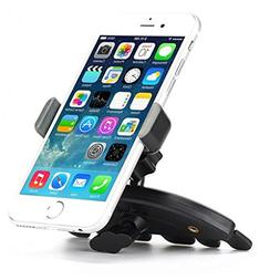 Premium Car Mount CD Player Slot Phone Holder Cradle Rotatin